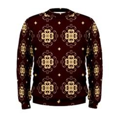 Seamless Ornament Symmetry Lines Men s Sweatshirt