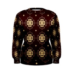 Seamless Ornament Symmetry Lines Women s Sweatshirt
