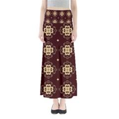 Seamless Ornament Symmetry Lines Maxi Skirts