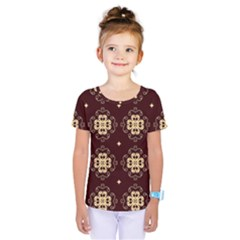 Seamless Ornament Symmetry Lines Kids  One Piece Tee