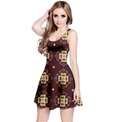 Seamless Ornament Symmetry Lines Reversible Sleeveless Dress