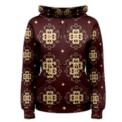 Seamless Ornament Symmetry Lines Women s Pullover Hoodie