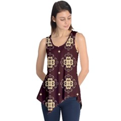 Seamless Ornament Symmetry Lines Sleeveless Tunic
