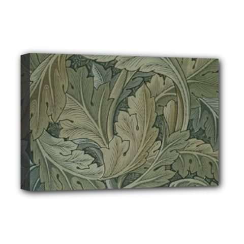 Vintage Background Green Leaves Deluxe Canvas 18  x 12