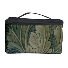 Vintage Background Green Leaves Cosmetic Storage Case