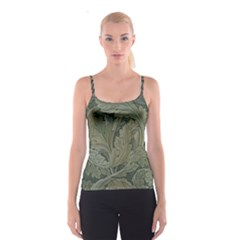 Vintage Background Green Leaves Spaghetti Strap Top