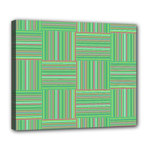 Geometric Pinstripes Shapes Hues Deluxe Canvas 24  x 20
