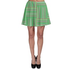 Geometric Pinstripes Shapes Hues Skater Skirt
