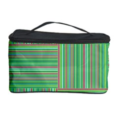 Geometric Pinstripes Shapes Hues Cosmetic Storage Case
