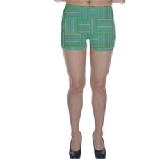 Geometric Pinstripes Shapes Hues Skinny Shorts