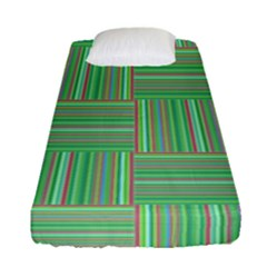 Geometric Pinstripes Shapes Hues Fitted Sheet (single Size)