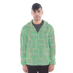 Geometric Pinstripes Shapes Hues Hooded Wind Breaker (Men)