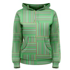 Geometric Pinstripes Shapes Hues Women s Pullover Hoodie