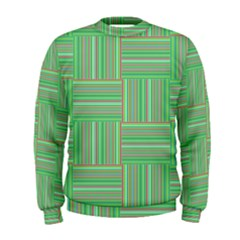Geometric Pinstripes Shapes Hues Men s Sweatshirt