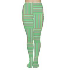 Geometric Pinstripes Shapes Hues Women s Tights