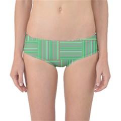 Geometric Pinstripes Shapes Hues Classic Bikini Bottoms
