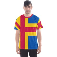 Flag of Aland Men s Sport Mesh Tee
