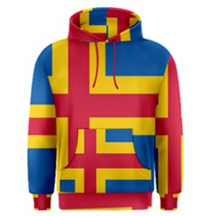 Flag of Aland Men s Pullover Hoodie