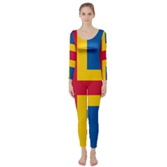 Flag of Aland Long Sleeve Catsuit