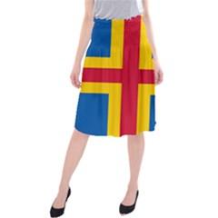 Flag of Aland Midi Beach Skirt