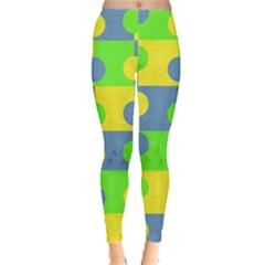Abric Cotton Bright Blue Lime Leggings