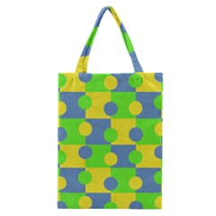 Abric Cotton Bright Blue Lime Classic Tote Bag