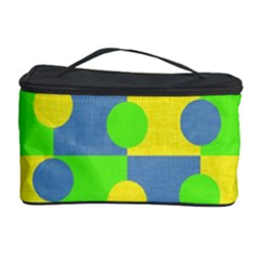 Abric Cotton Bright Blue Lime Cosmetic Storage Case