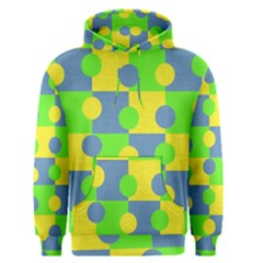 Abric Cotton Bright Blue Lime Men s Pullover Hoodie