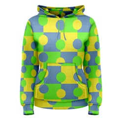 Abric Cotton Bright Blue Lime Women s Pullover Hoodie