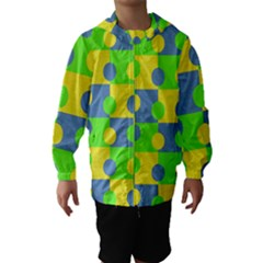 Abric Cotton Bright Blue Lime Hooded Wind Breaker (Kids)