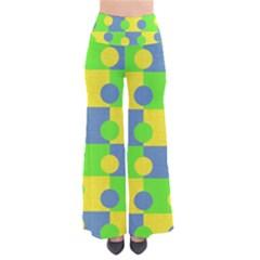 Abric Cotton Bright Blue Lime Pants