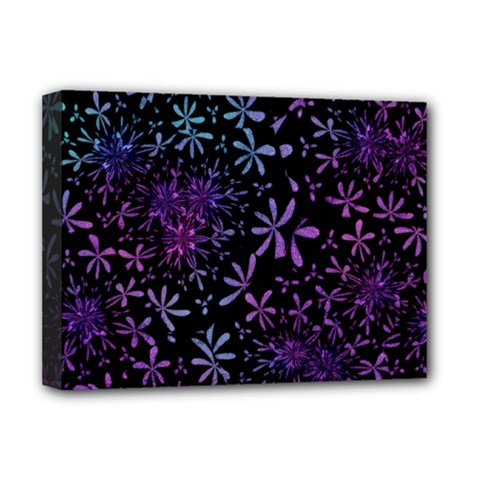Retro Flower Pattern Design Batik Deluxe Canvas 16  x 12