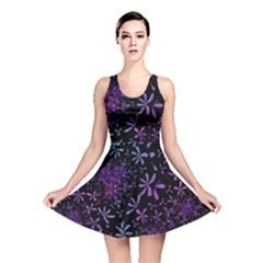 Retro Flower Pattern Design Batik Reversible Skater Dress