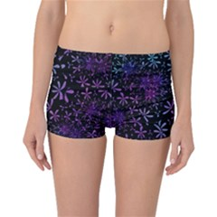 Retro Flower Pattern Design Batik Boyleg Bikini Bottoms