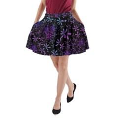 Retro Flower Pattern Design Batik A-Line Pocket Skirt