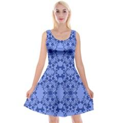 Floral Ornament Baby Boy Design Retro Pattern Reversible Velvet Sleeveless Dress