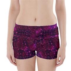 Retro Flower Pattern Design Batik Boyleg Bikini Wrap Bottoms