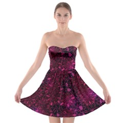 Retro Flower Pattern Design Batik Strapless Bra Top Dress