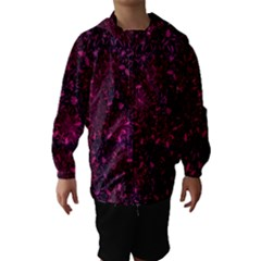 Retro Flower Pattern Design Batik Hooded Wind Breaker (Kids)