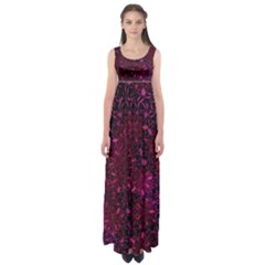 Retro Flower Pattern Design Batik Empire Waist Maxi Dress