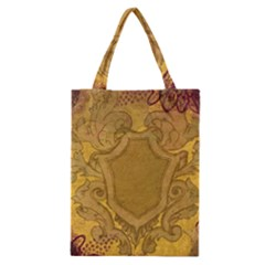 Vintage Scrapbook Old Ancient Retro Pattern Classic Tote Bag