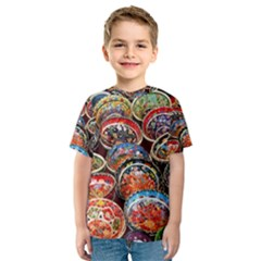 Art Background Bowl Ceramic Color Kids  Sport Mesh Tee