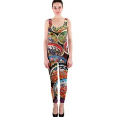 Art Background Bowl Ceramic Color OnePiece Catsuit