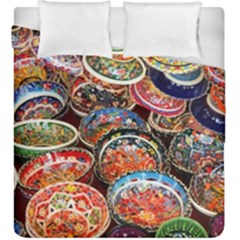 Art Background Bowl Ceramic Color Duvet Cover Double Side (king Size)