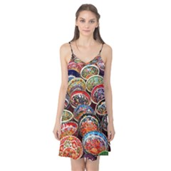 Art Background Bowl Ceramic Color Camis Nightgown