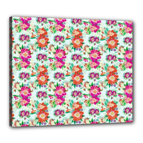 Floral Flower Pattern Seamless Canvas 24  x 20