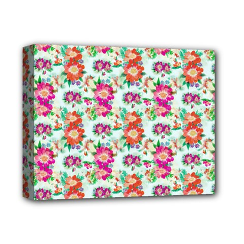 Floral Flower Pattern Seamless Deluxe Canvas 14  x 11