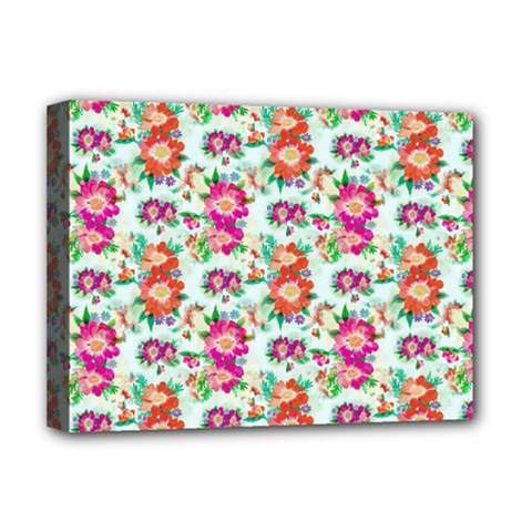 Floral Flower Pattern Seamless Deluxe Canvas 16  x 12