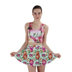 Floral Flower Pattern Seamless Mini Skirt