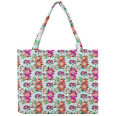 Floral Flower Pattern Seamless Mini Tote Bag